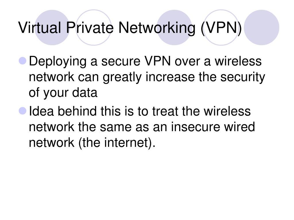 Virtual Private Networking (VPN)