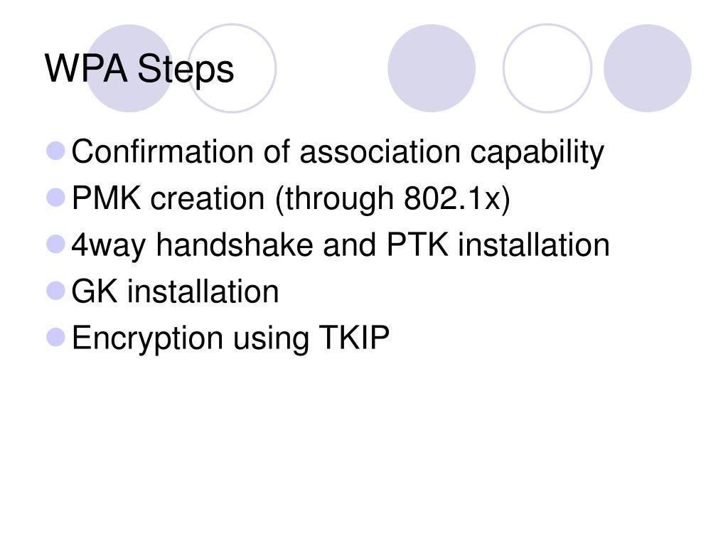 WPA Steps