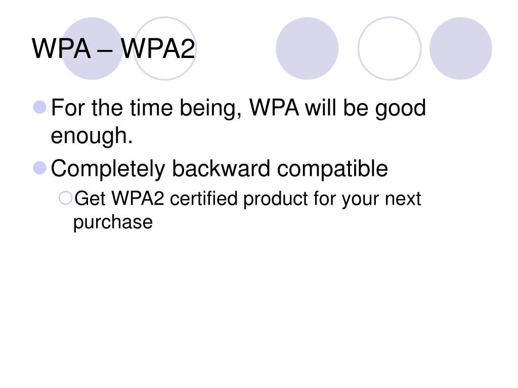 WPA – WPA2