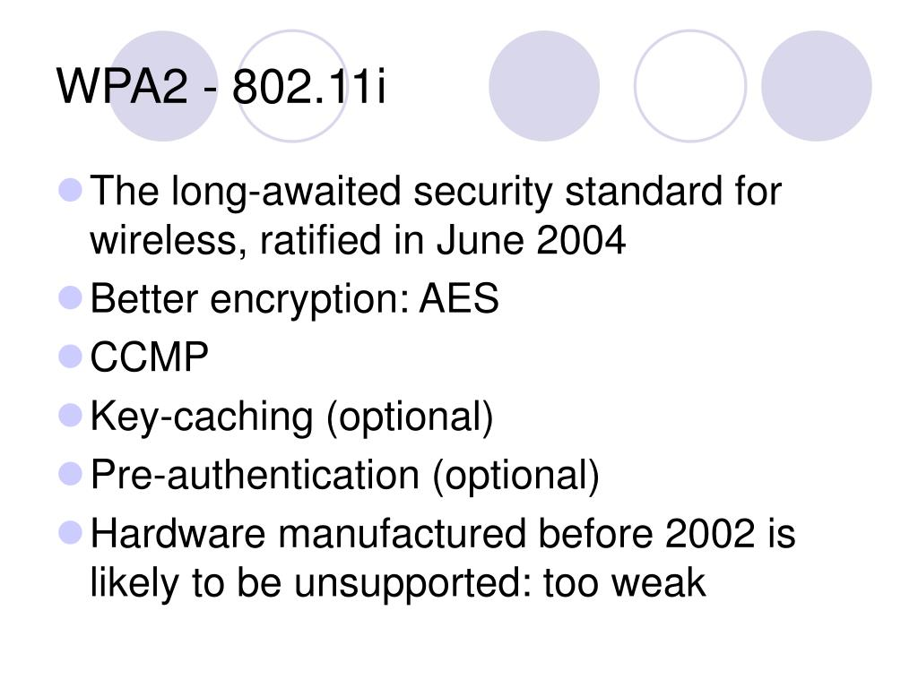 WPA2 - 802.11i