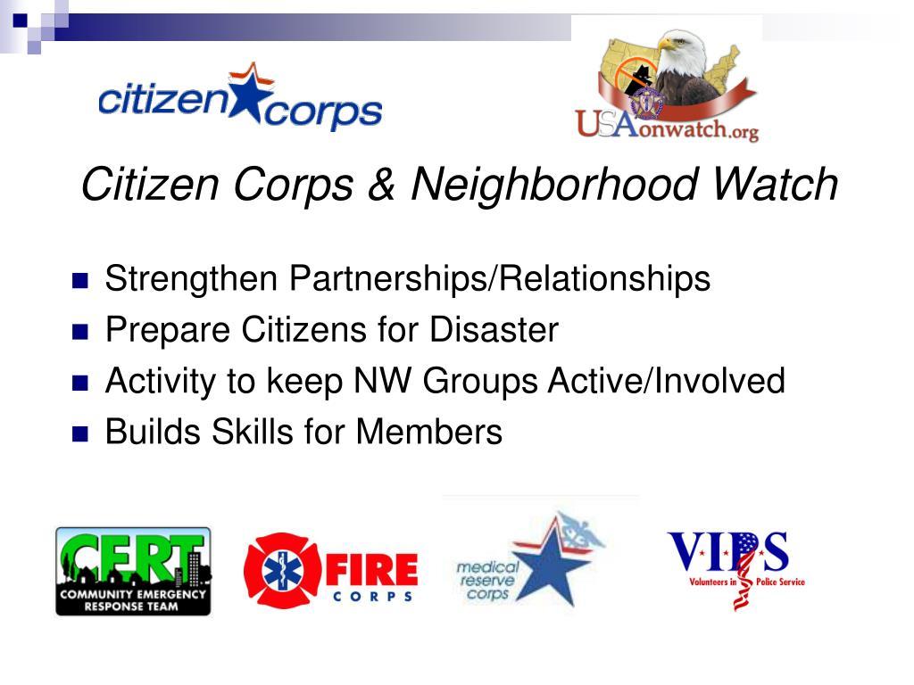 Citizen Corps & Neighborhood Watch