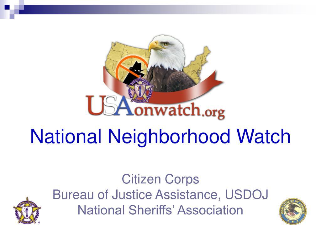 National Neighborhood Watch