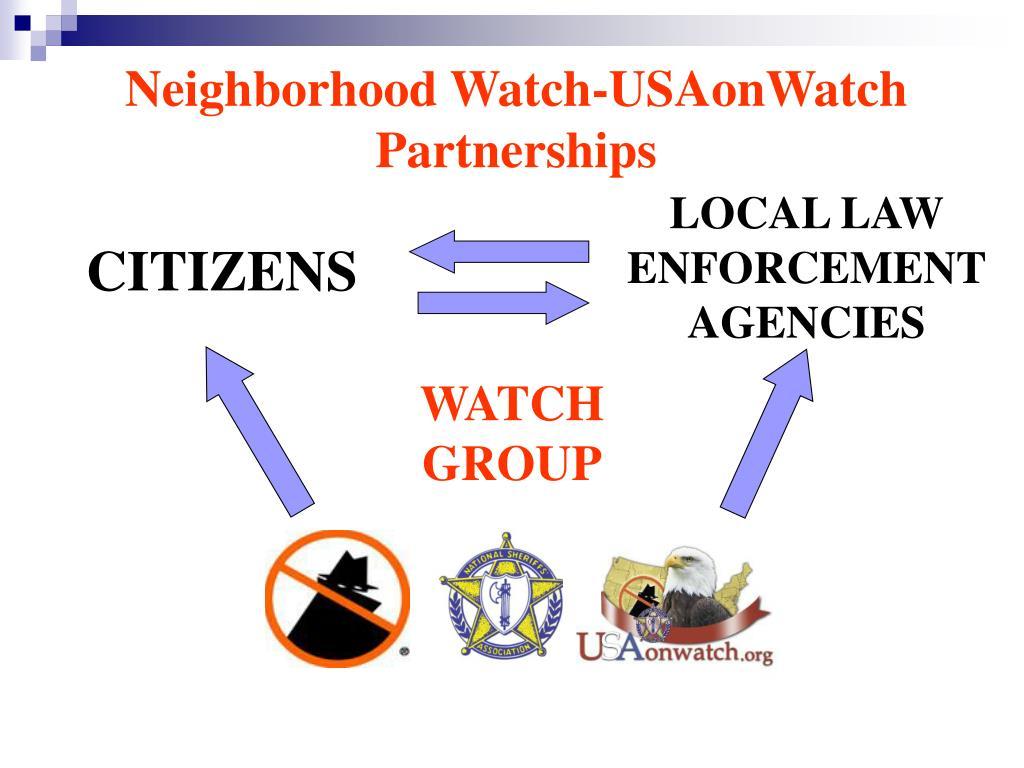 Neighborhood Watch-USAonWatch Partnerships