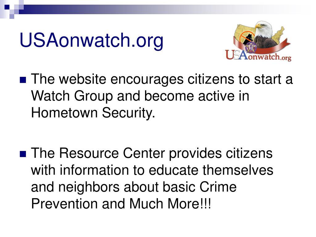 USAonwatch.org