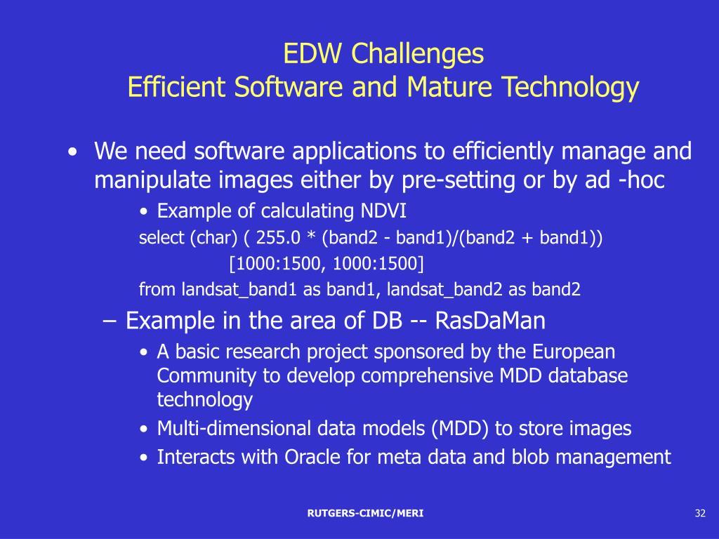 EDW Challenges