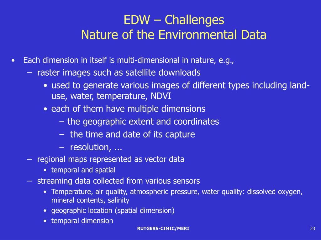 EDW – Challenges