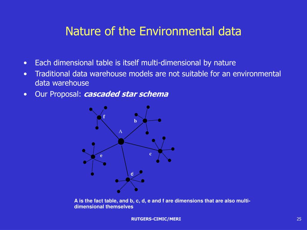 Nature of the Environmental data