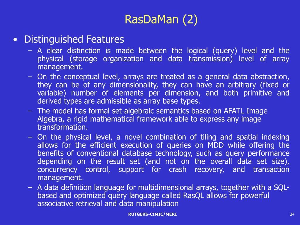 RasDaMan (2)