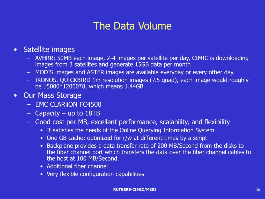 The Data Volume