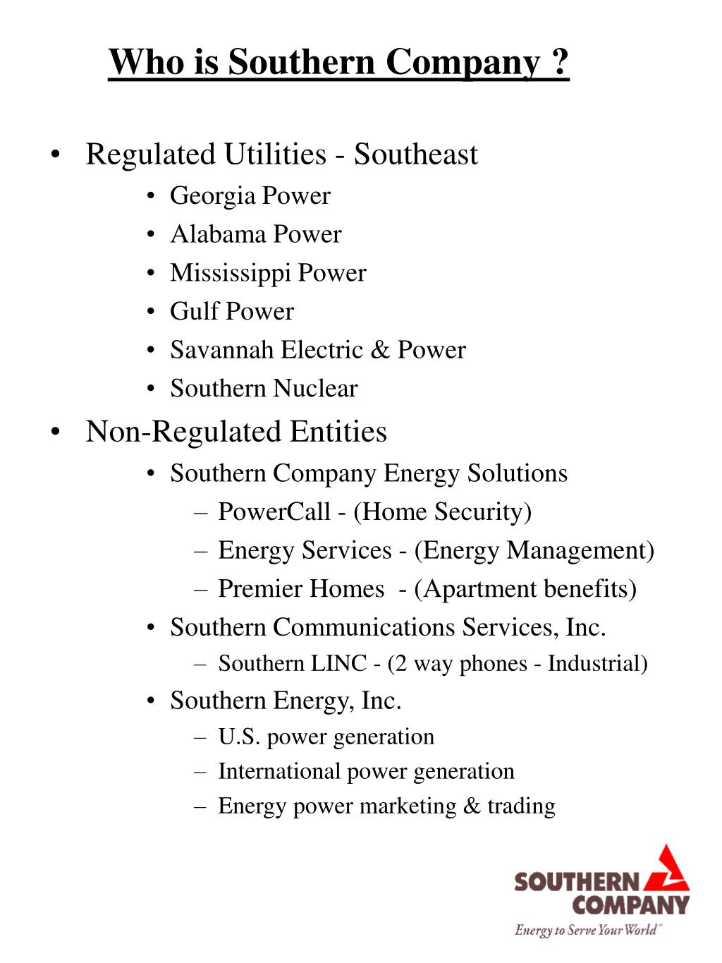 Who is Southern Company ?