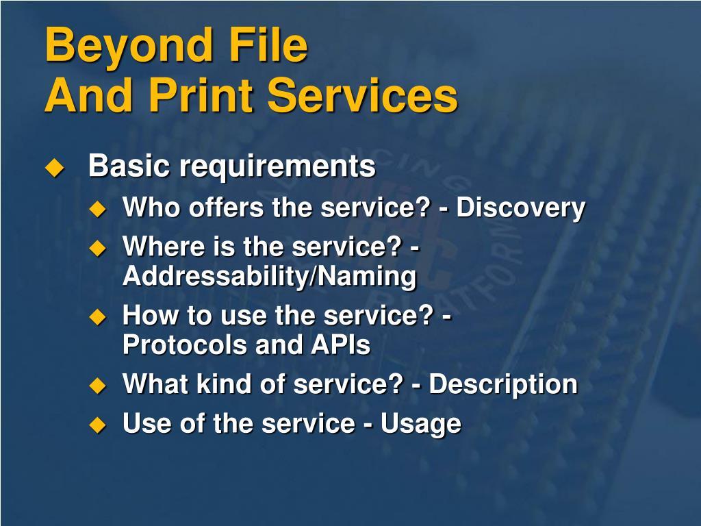 Beyond File
