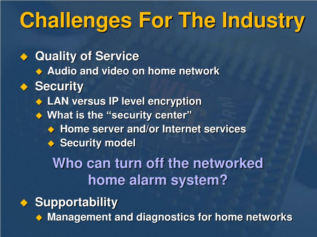 Challenges For The Industry
