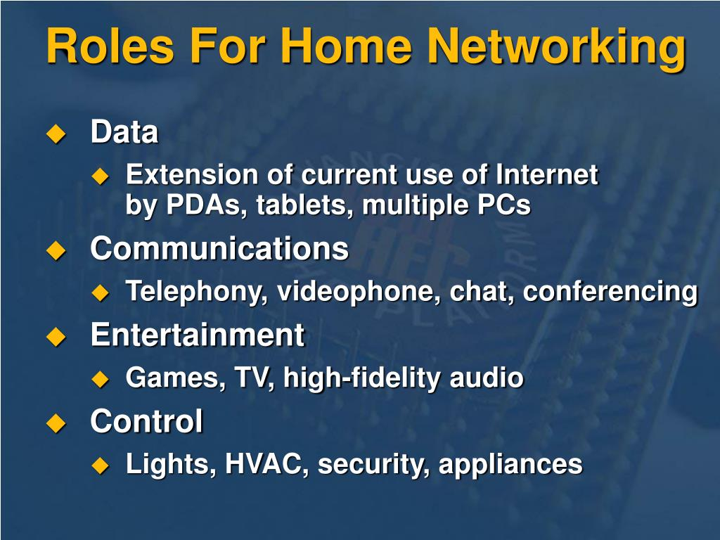 Roles For Home Networking
