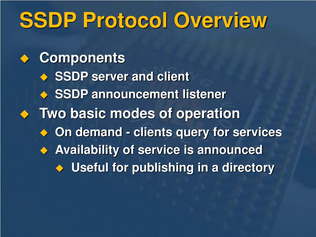 SSDP Protocol Overview
