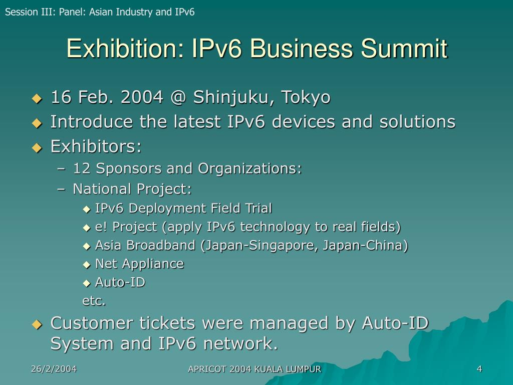Exhibition: IPv6 Business Summit
