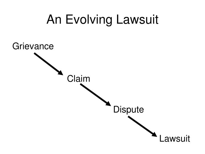 An Evolving Lawsuit