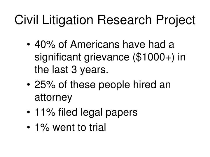 Civil Litigation Research Project
