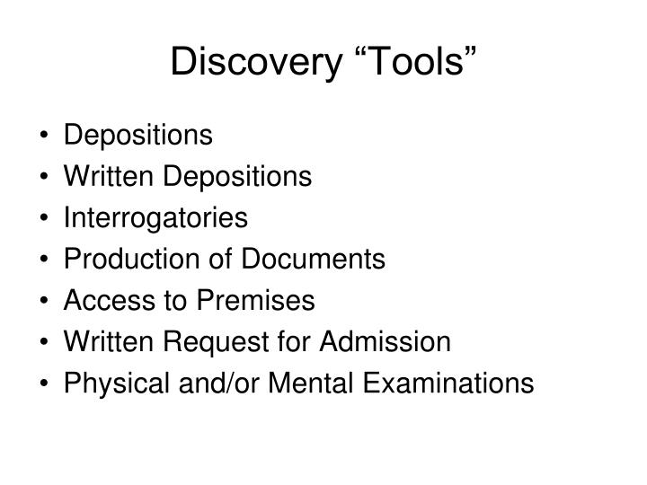 "Discovery ""Tools"""