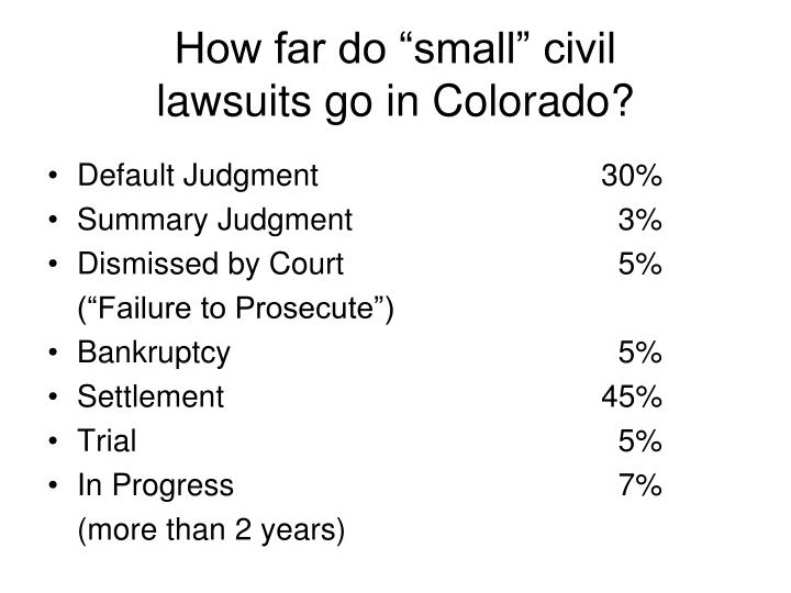 "How far do ""small"" civil"