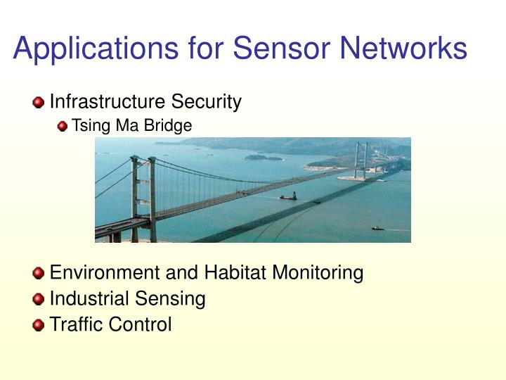Applications for sensor networks