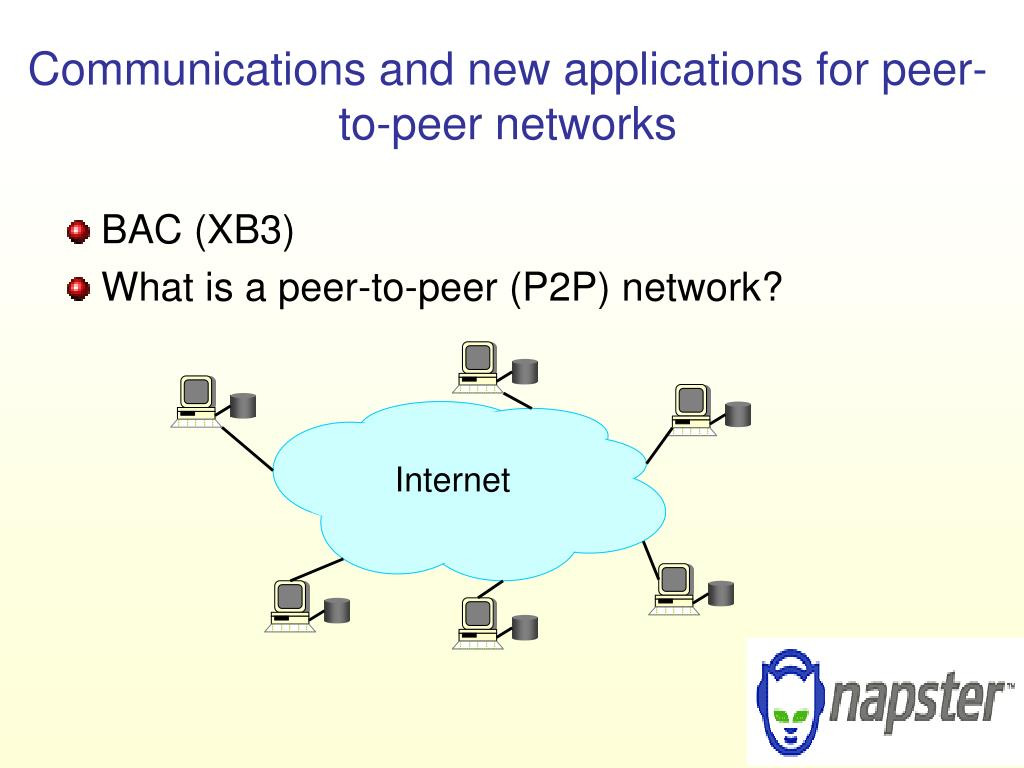 Communications and new applications for peer-to-peer networks