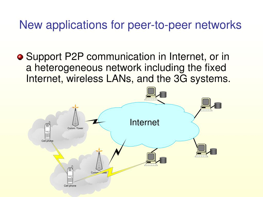 New applications for peer-to-peer networks