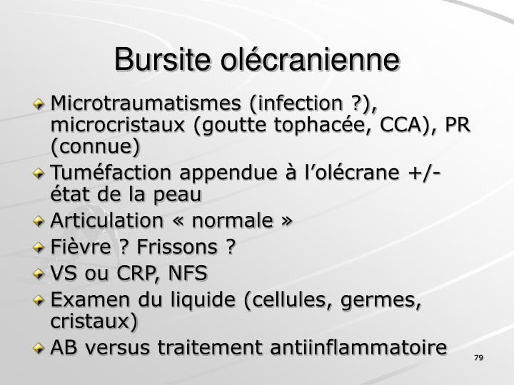 Bursite olécranienne