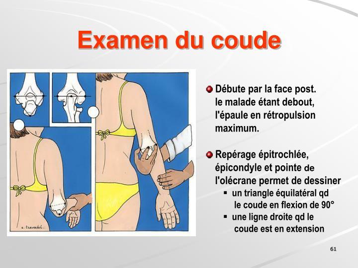 Examen du coude