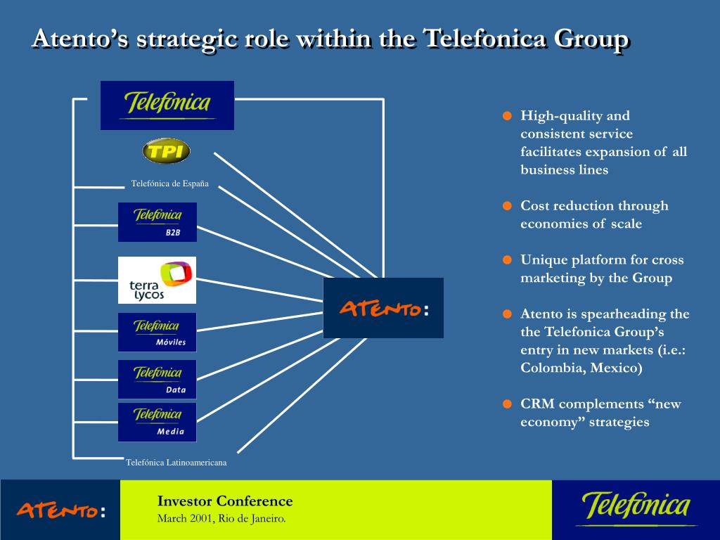 Atento's strategic role within the Telefonica Group