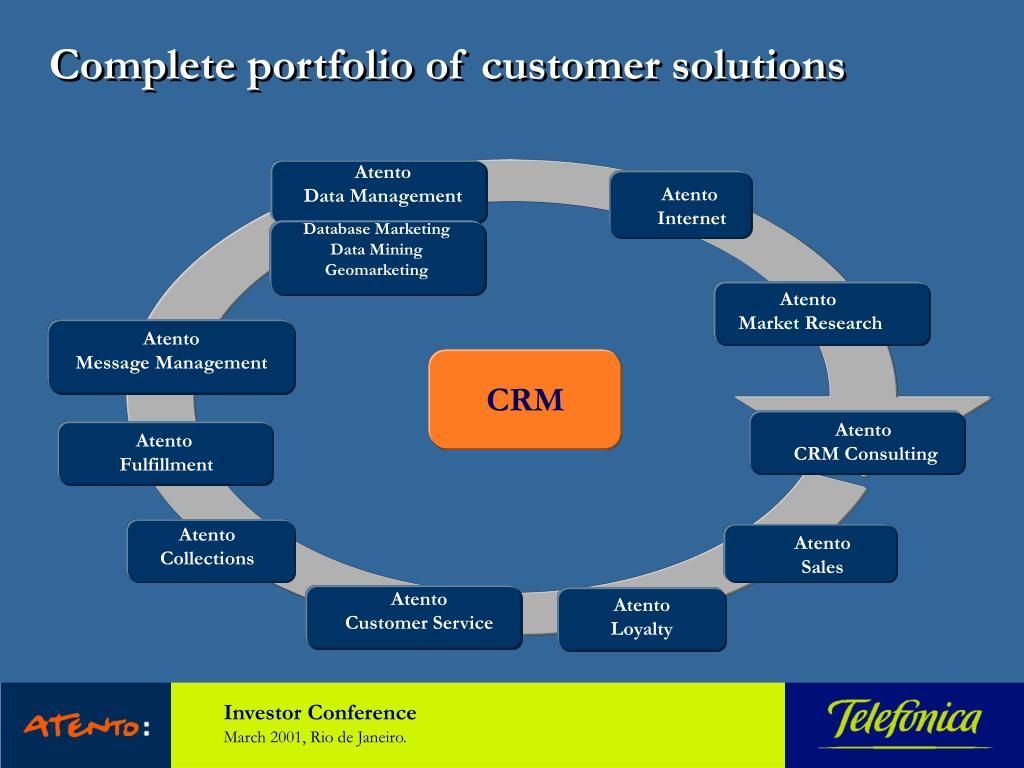 Complete portfolio of customer solutions