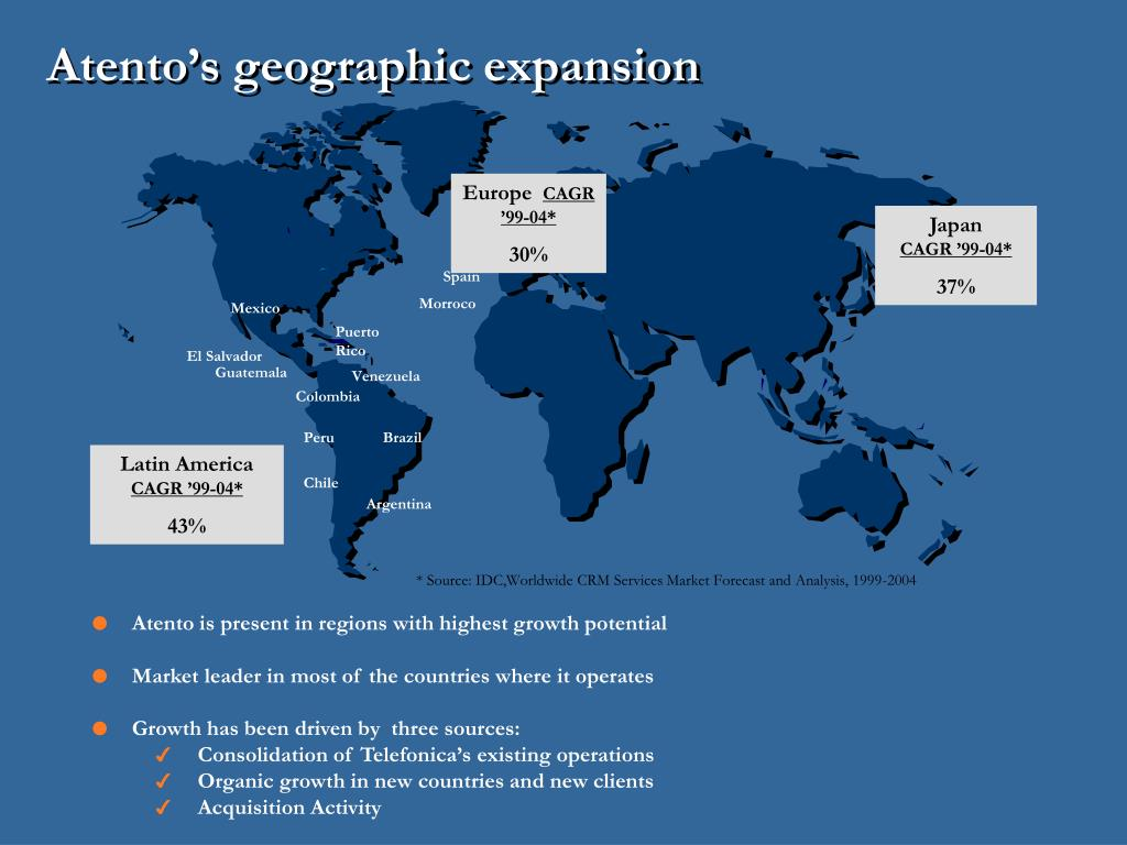 Atento's geographic expansion