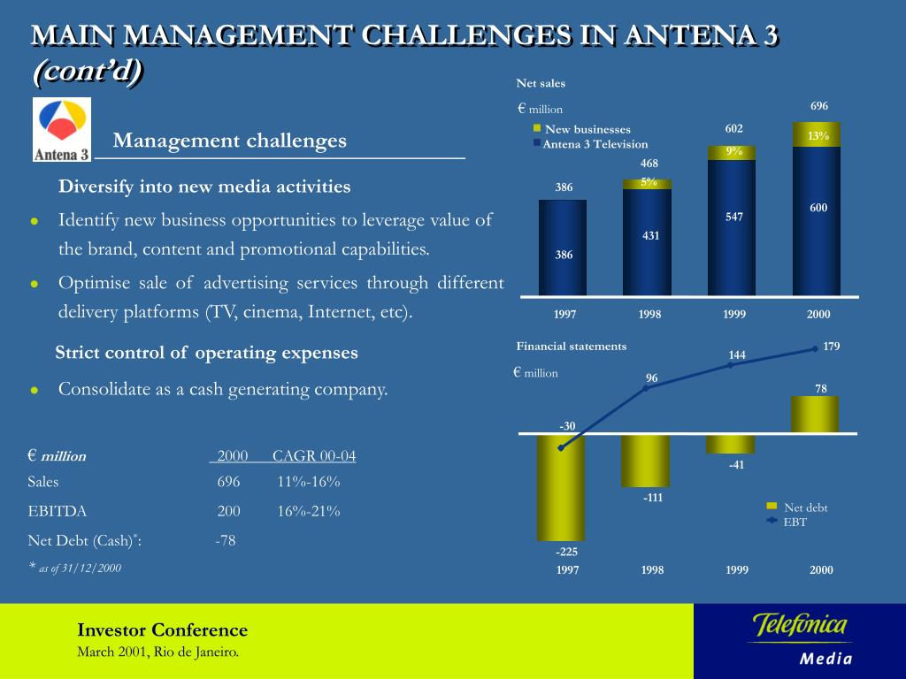 MAIN MANAGEMENT CHALLENGES IN ANTENA 3