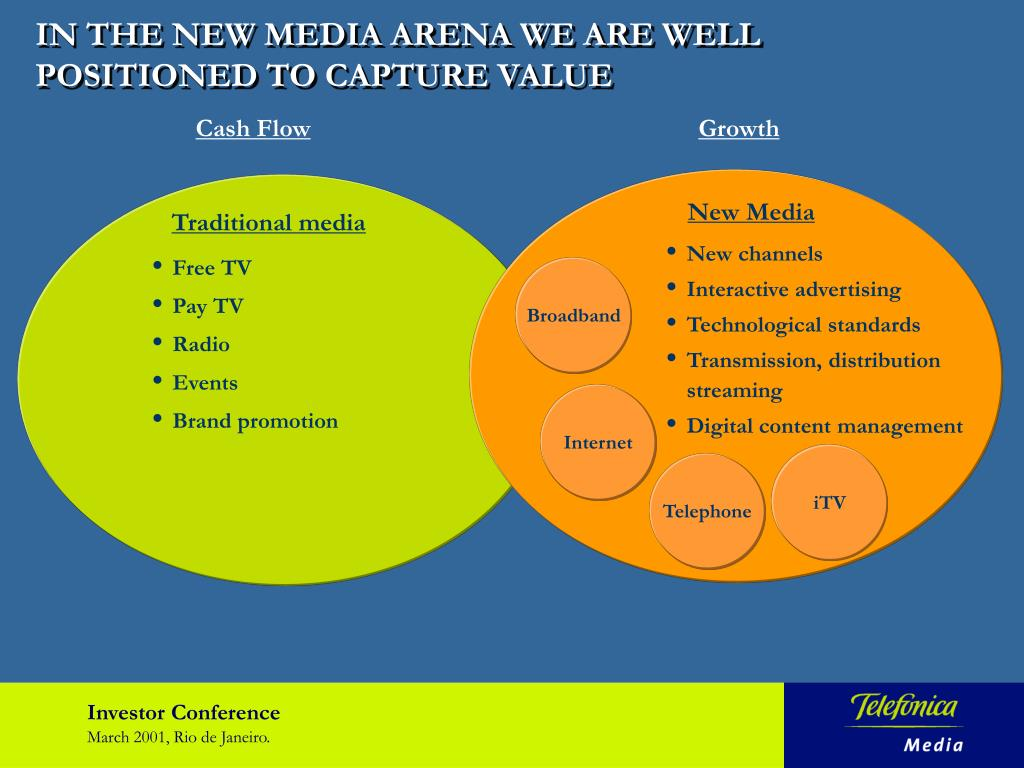 IN THE NEW MEDIA ARENA WE ARE WELL POSITIONED TO CAPTURE VALUE