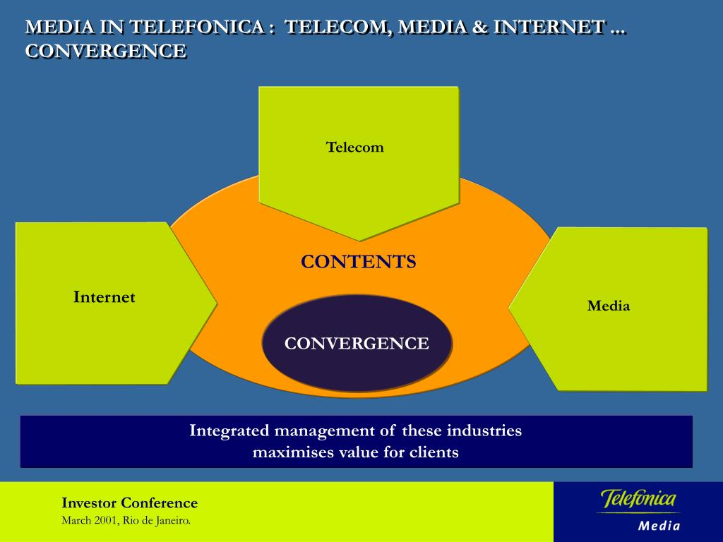 MEDIA IN TELEFONICA :  TELECOM, MEDIA & INTERNET ... CONVERGENCE