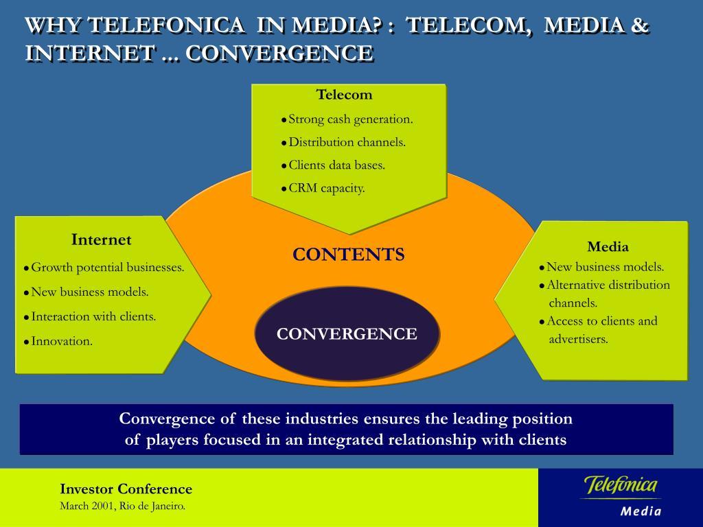 WHY TELEFONICA  IN MEDIA? :  TELECOM,  MEDIA & INTERNET ... CONVERGENCE