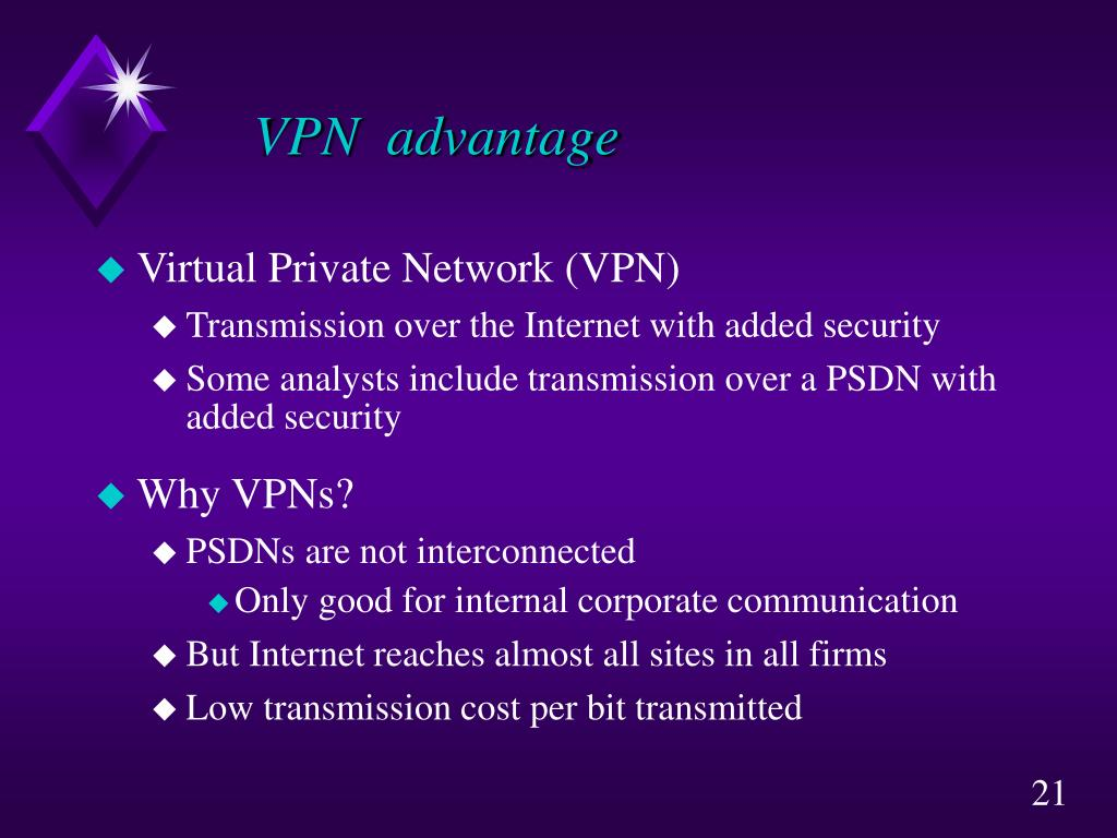 VPN  advantage