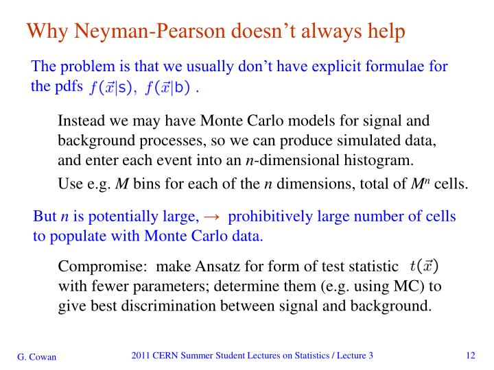Why Neyman-Pearson doesn't always help