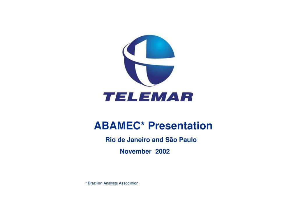 ABAMEC* Presentation