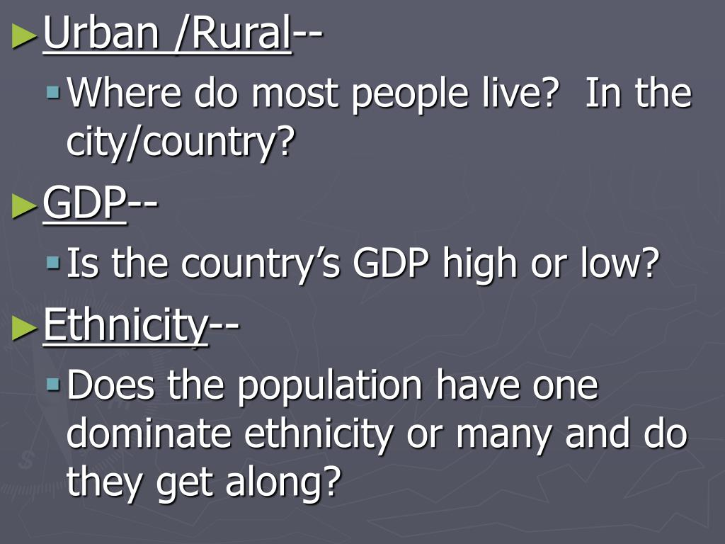 Urban /Rural