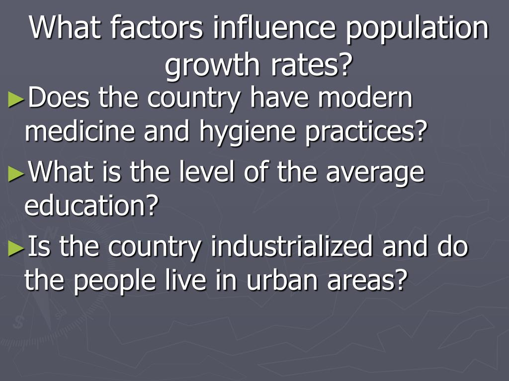 What factors influence population growth rates?