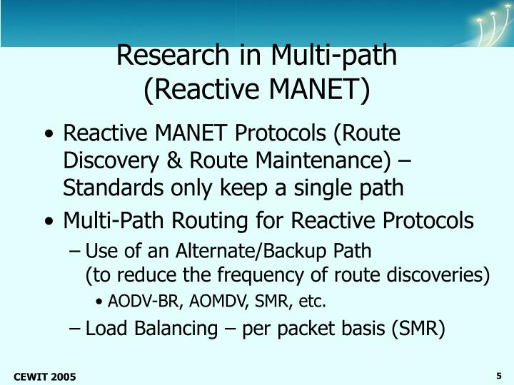 Research in Multi-path