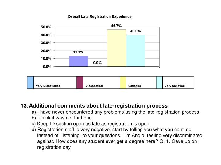 Additional comments about late-registration process