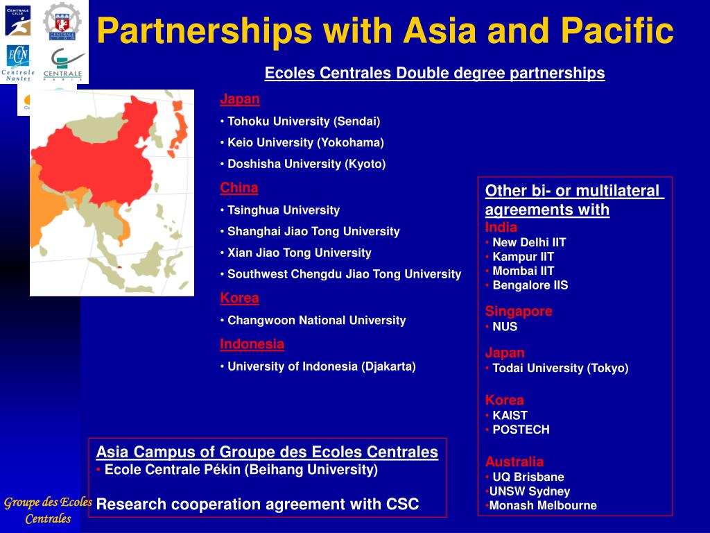 Partnerships with Asia and Pacific