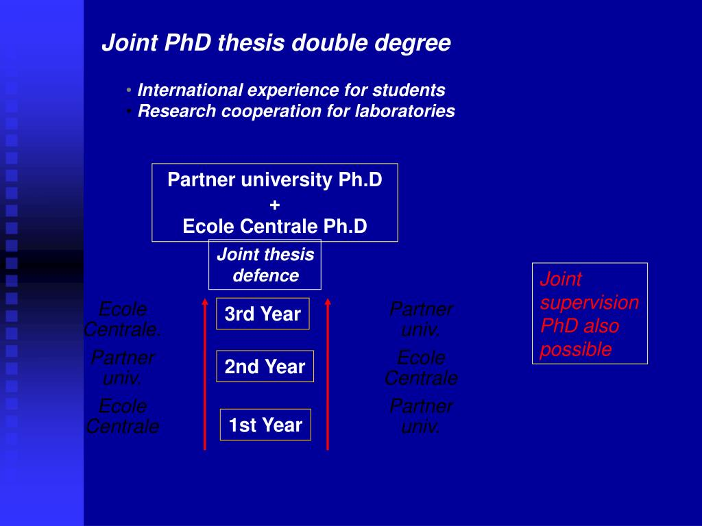 Joint PhD thesis double degree