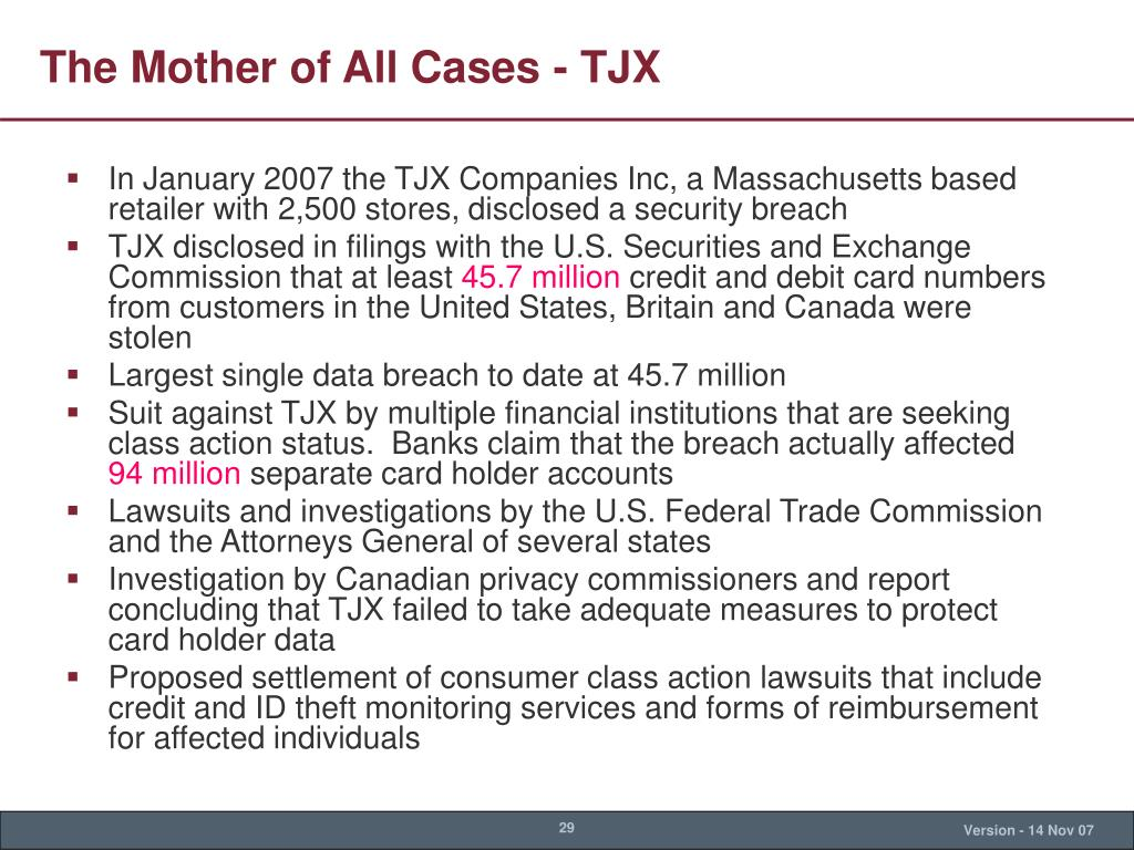 The Mother of All Cases - TJX
