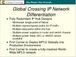 global crossing ip network differentiation