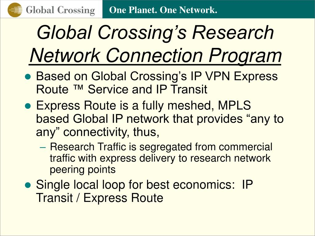 Global Crossing's Research