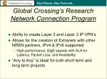 global crossing s research network connection program28