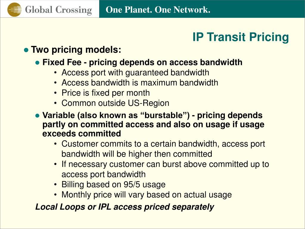IP Transit Pricing