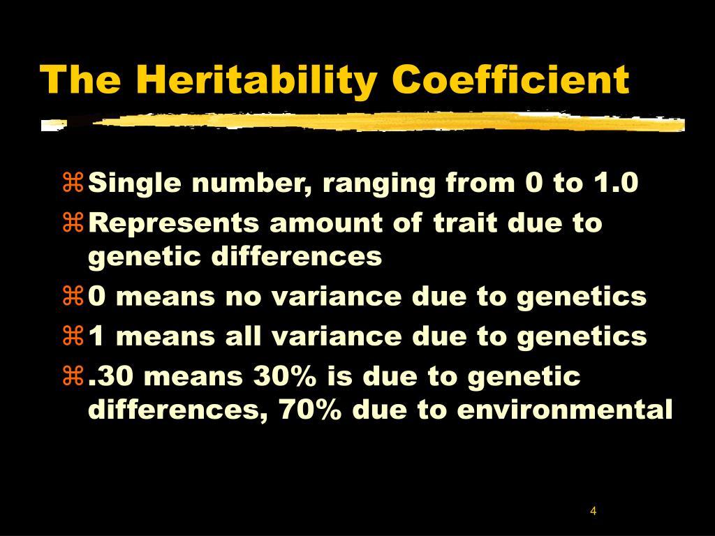 The Heritability Coefficient